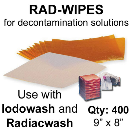 Rad Wipes for decontamination solutions - Case of 400